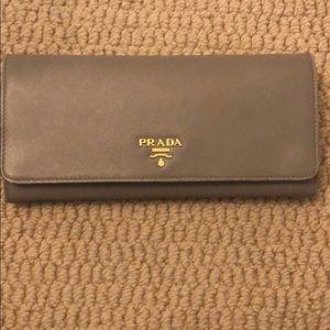 COPY - Prada Saffiano Leather Chain Wallet